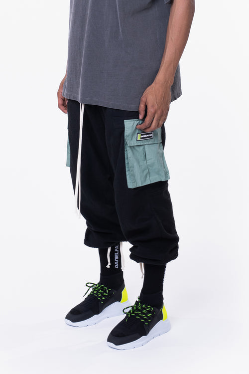 M93 cargo pant / black polar + sea foam