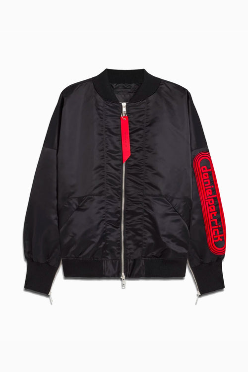dp retro bomber / black + red