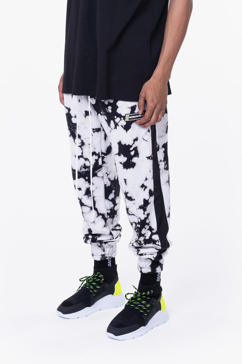 roaming track pant ii / white acid + black