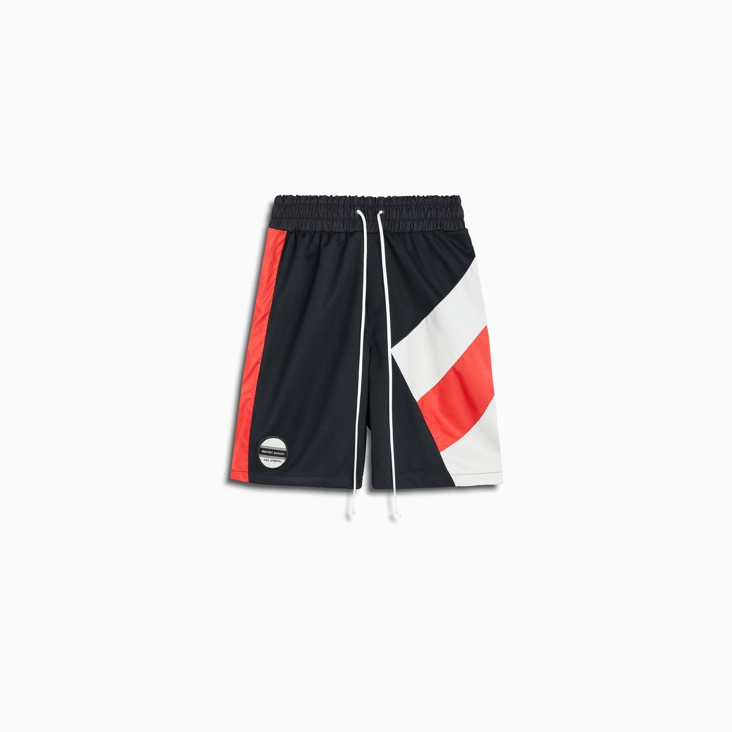 LA shorts / black + red + ivory