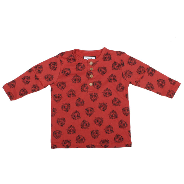 Kids Lounge Shirt, Red Print