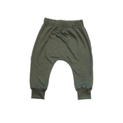 Skuttlebum jogger Olive Green / 2T / Baggy Kids Harem Pants, Olive Green