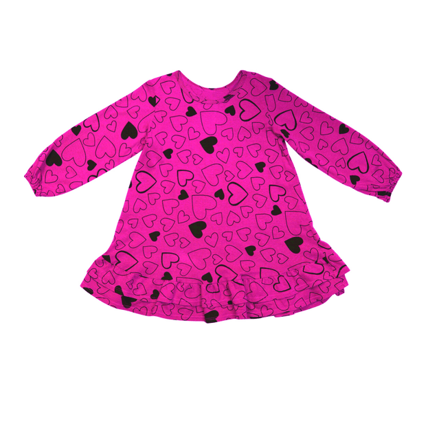 Pink Peony Kids long sleeve dress Pink Long-Sleeve Dress