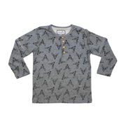 Young and Free long sleeve shirt Gray Print Hiking Shirt