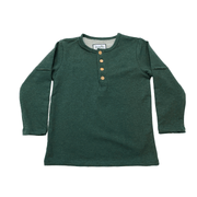 Young and Free long sleeve shirt Kids Hiking Shirt, Forest Green