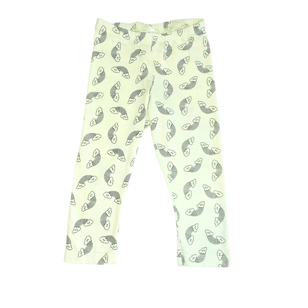 Pink Peony Kids Short pants Lime Green Capri Leggings