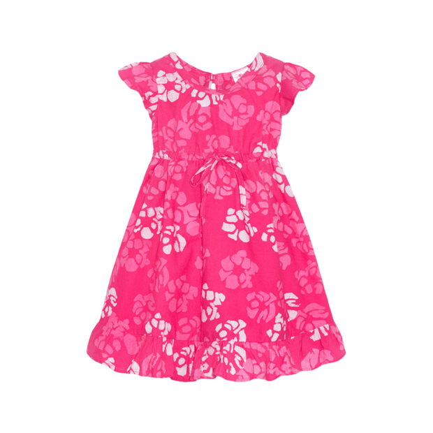 Global Mamas short sleeve dress Bright Pink Flutter-Sleeve Dress