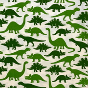 Winter Water Factory short sleeve shirt Green Dinosaur Shirt