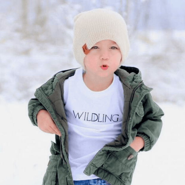 Skuttlebum short sleeve shirt Kids Wildling White T-Shirt