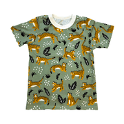 Winter Water Factory short sleeve shirt 2T Sage Cheetah Shirt