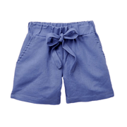 Young and Free Shorts Girls Blue Pocket Shorts