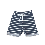 Young and Free Shorts Knit Gray Stripe Shorts