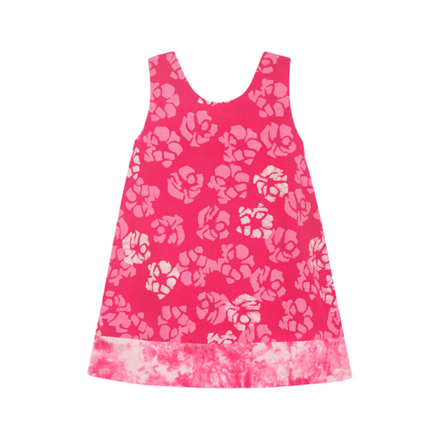 Global Mamas sleeveless dress Girls Reversible Dress, Pink