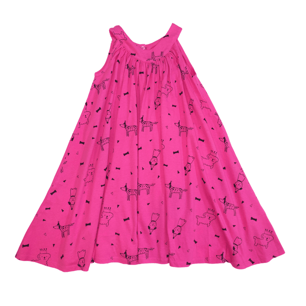 Pink Peony Kids sleeveless dress Pink Empire Waist Dress