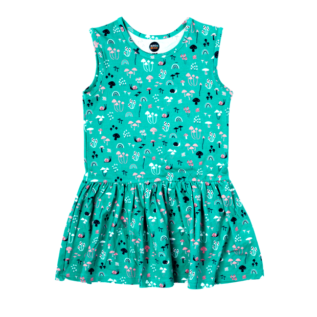 Bird & Bean sleeveless dress Teal Print Tank Dress