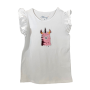 Kid's Dream/Chewy sleeveless shirt Girls Sequin Top, Pink Lama