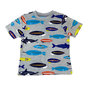 Bear Camp T-shirt Boys Fish Shirt