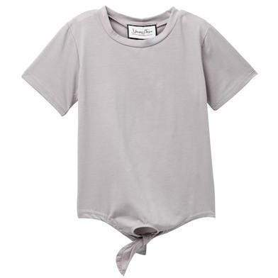 Young and Free T-shirt 2T Girls Tie Shirt, Grey