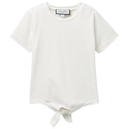 Young and Free T-shirt 2T Girls Tie Shirt, White