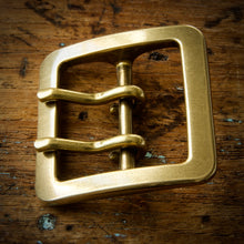 Load image into Gallery viewer, Belt - Horween Chromexcel Navy Blue - Your Choice of Solid Brass Buckle
