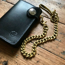 Load image into Gallery viewer, Brass Fish Hook Wallet Chain & Key Chain