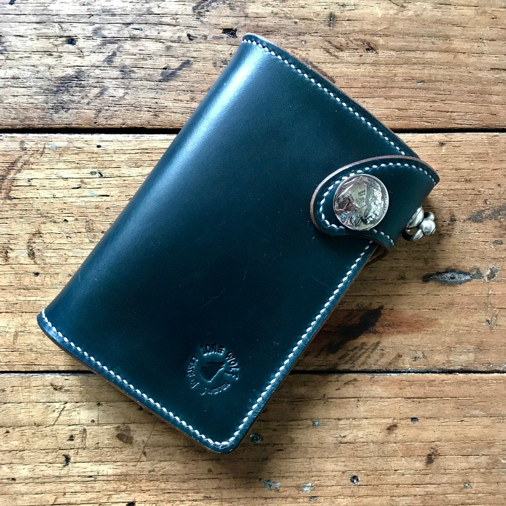 Medium Wallet - Horween Navy Blue Chromexcel
