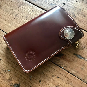 Medium Wallet - Shinki Hikaku Burgundy Shell Cordovan