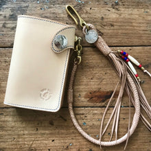 Load image into Gallery viewer, Braided Wallet Leash - Natural Kangaroo