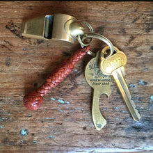 Load image into Gallery viewer, Braided Key Fob - Saddle Tan Kangaroo
