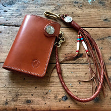 Load image into Gallery viewer, Braided Wallet Leash - Saddle Tan Kangaroo