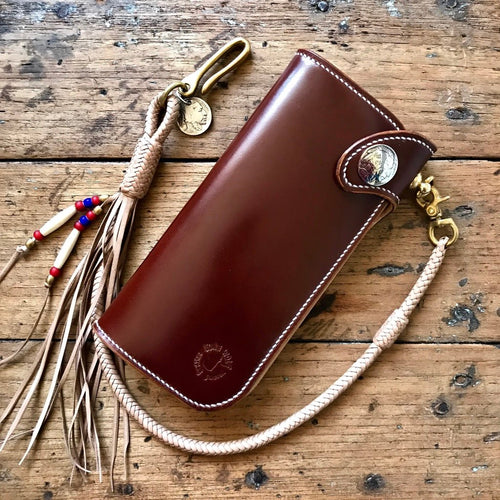 Tall Wallet - Shinki Hikaku Burgundy Shell Cordovan
