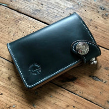 Load image into Gallery viewer, Medium Wallet - Horween Navy Blue Chromexcel