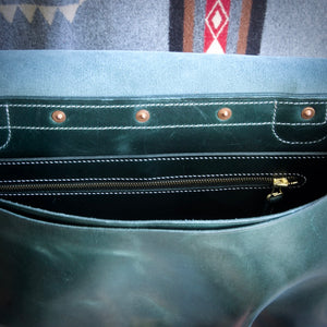 U.S. Mail Bag - Tärnsjö Dark Green Veg Tanned