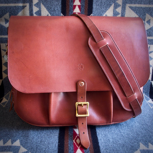 U.S. Mail Bag - Tärnsjö Saddle Tan Veg Tanned