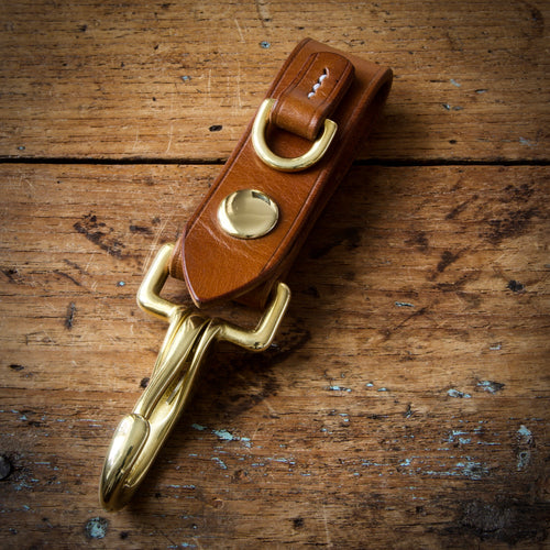 Belt Key Hook - Tärnsjö Saddle Tan Veg Tanned