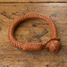 Load image into Gallery viewer, Braided Round Knot Bracelet - Saddle Tan
