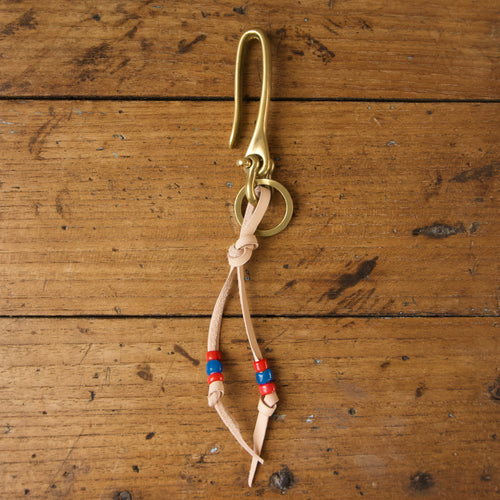 Fish Hook Key Ring - Natural Brass
