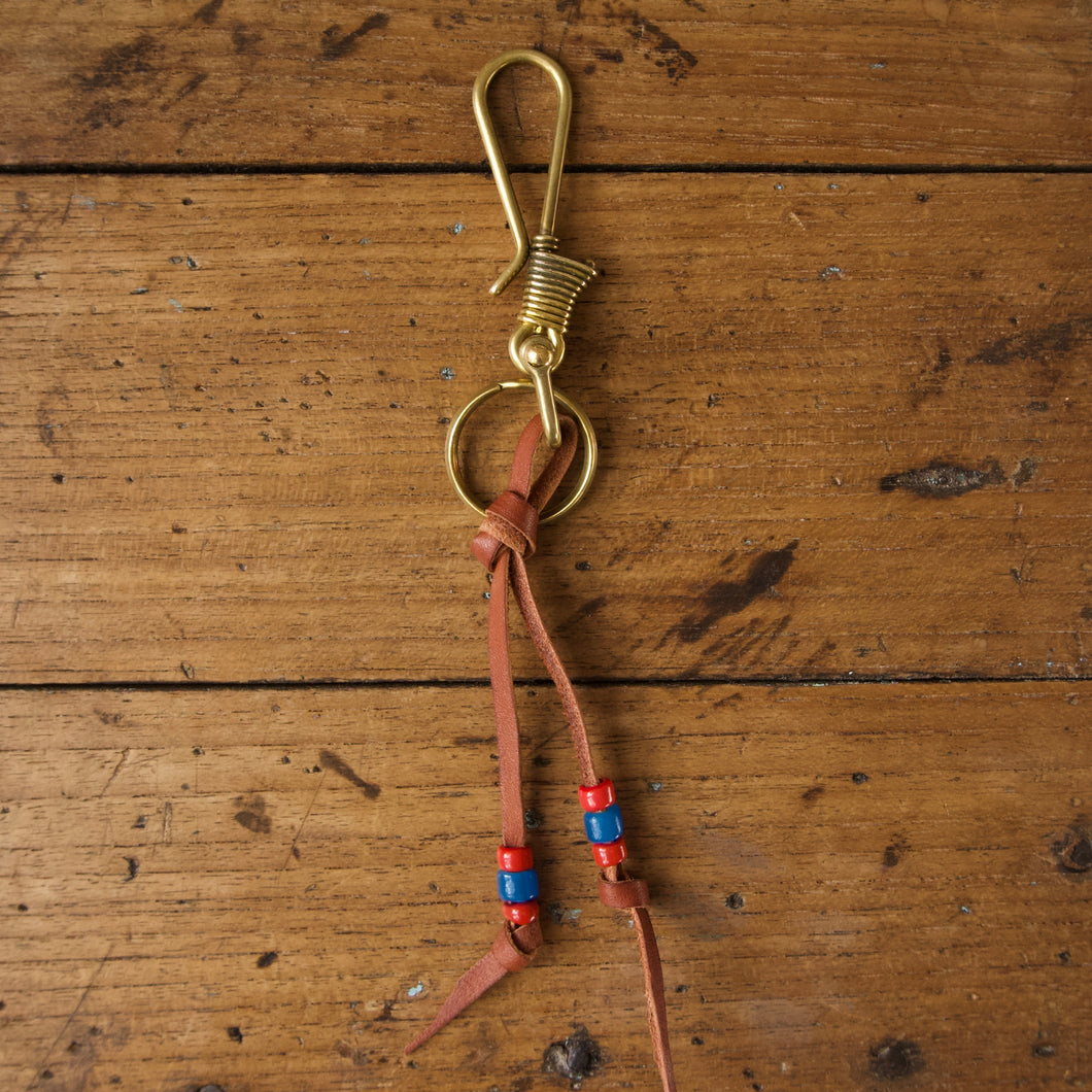 Fish Hook Wire Key Ring - Natural Brass
