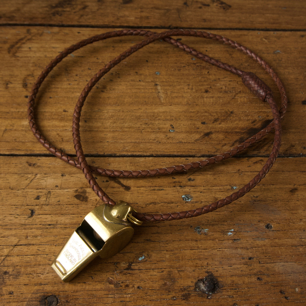 Braided Necklace with Acme Thunderer Whistle