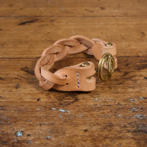 Braided Anchor Buckle Bracelet - Tärnsjö Natural Veg Tanned