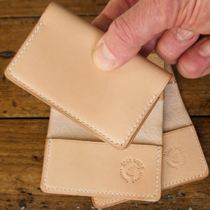 Card Wallet - Tärnsjö Natural Veg Tanned Leather