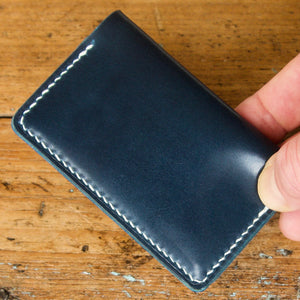 Card Wallet - Shinki Hikaku Navy Blue Shell Cordovan