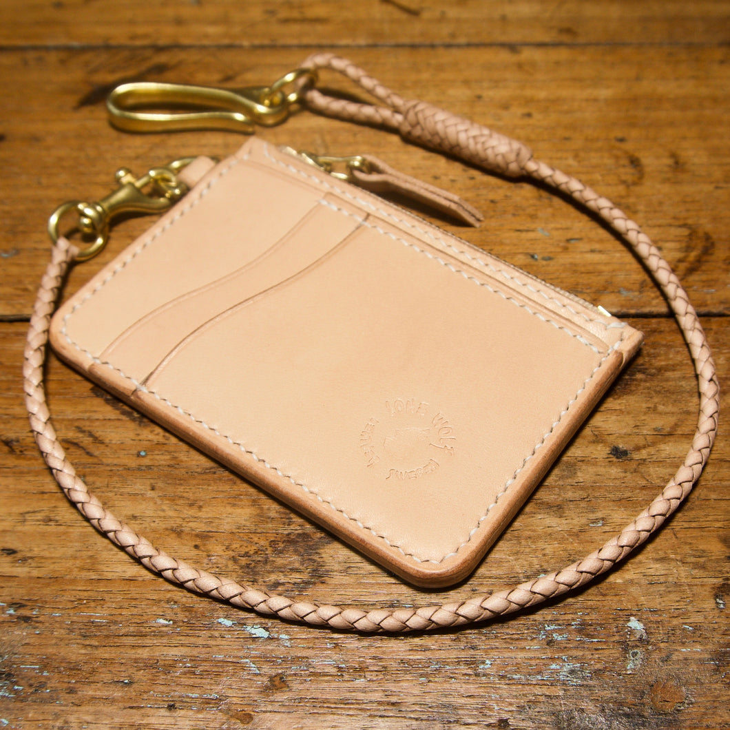 Mini Wallet - Tärnsjö Natural Veg Tanned Leather