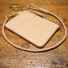 Load image into Gallery viewer, Mini Wallet - Tärnsjö Natural Veg Tanned Leather