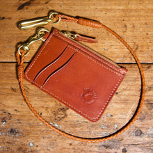 Load image into Gallery viewer, Mini Wallet - Tärnsjö Saddle Tan Veg Tanned