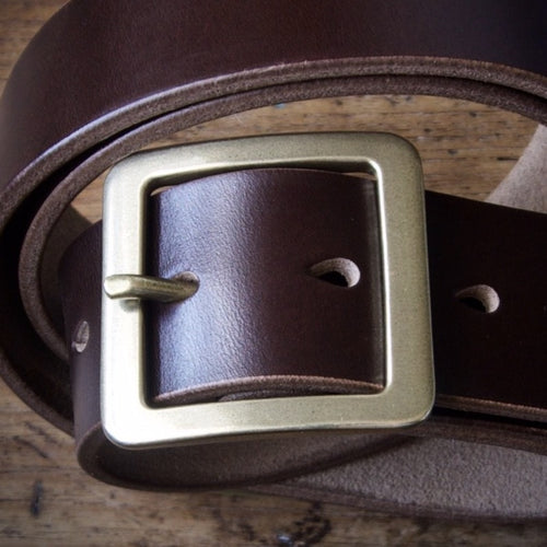 Belt - Horween Chromexcel Brown - Your Choice of Solid Brass Buckle