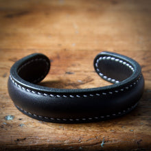 Load image into Gallery viewer, Cuff Bracelet - Black Tärnsjö Veg Tanned