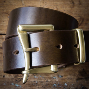 Belt - Horween Chromexcel Olive Green - Your Choice of Solid Brass Buckle