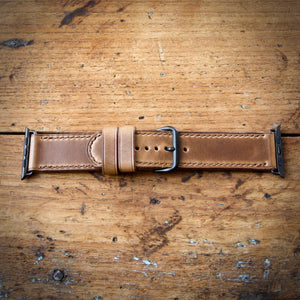 Watch Strap - Apple iWatch - Horween Natural Chromexcel - Brown Thread