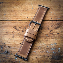 Load image into Gallery viewer, Watch Strap - Apple iWatch - Horween Natural Chromexcel - Brown Thread